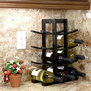 12-Bottle Bamboo Wine Rack from Oceanstar Design