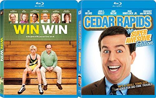 Win Win & Cedar Rapids Double Feature Blu Ray Fun Comedy movie Set Combo Edition