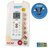 HQRP Universal A/C Remote Control for RIJIANG ROWA SACON SAMSUNG SANYO NEC SANZUAN SAPORO SAST SENSOR SAN-KEY Air Conditioner / Fahrenheit displaying plus HQRP Coaster