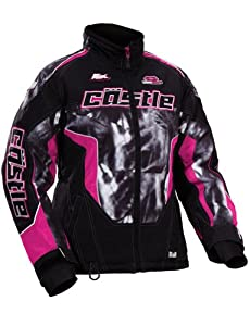 2014 Castle Psych Bolt SE Women's Snowmobile Jackets - Pink - 3W