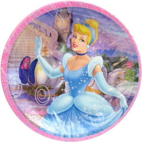 Cinderella 'Stardust' Large Paper Plates (8ct) - 1