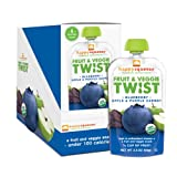 Happy Squeeze On-The-Go Superfoods, Blueberry, Apple & Purple Carrot, 3.5 Ounce (Pack of 12)