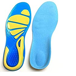 Imported Unisex Silicone Gel Arch Support Sports Insoles Shock Absorption Shoe Pads L