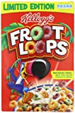 Kelloggs Froot Loops Regular Size 345 g, UK Version (Pack of 4)