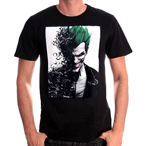 Batman Arkham Origins T-Shirt Joker Face black Size XL CODI