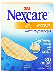 Nexcare Active Extra Cushion Bandage, One Sizes, 30 ct Packages (Pack of 4)