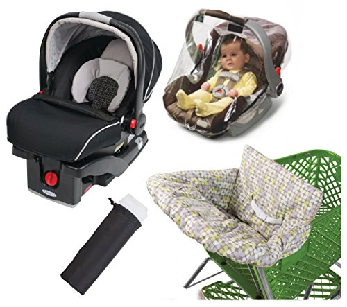 Graco SnugRider Click Connect 35 Infant Car Seat with Weather Shield, Insect Netting & Multi-Use Cover, Pierce (Graco Snug Ride Car Seat Cover compare prices)