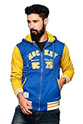 Nucode Men's Embroidered Cotton Hooded Neck Casual Sweatshirt