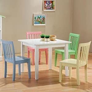 Amazon.com: 5pc Kids Set Play Room Table & Chairs: Kitchen & Dining