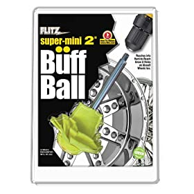 Flitz Yellow 2 inch Original Super Mini Buff Balls in Clamshell