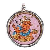 Redbag Siddhi VInayak Handpainted Silver Pendant ( 3.81 Cm, 3.81 Cm, 1.27 Cm )