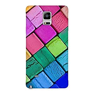 Delighted Block Colors Print Back Case Cover for Galaxy Note 4