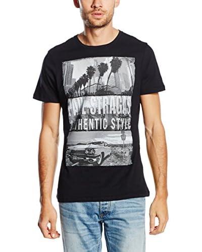 PAUL STRAGAS Camiseta Manga Corta Negro