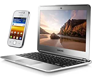 """Samsung Chromebook 11.6"""" (29 cm) Wifi + Smartphone Galaxy Y Blanc"""