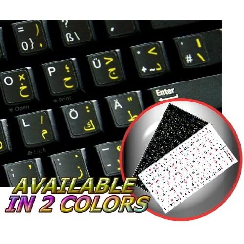 ITALIAN-ENGLISH NON-TRANSPARENT KEYBOARD STICKER BLACK BACKGROUND FOR DESKTOP, LAPTOP AND NOTEBOOK 4KEYBOARD