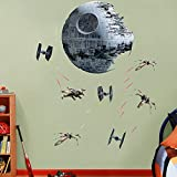 "Death Star Battle - REAL BIG Fathead Wall Graphics Assorted on a 4'4"" x 6'7"" sheet"
