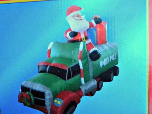 72x108in Christmas Santa in Truck Airblown Inflatable