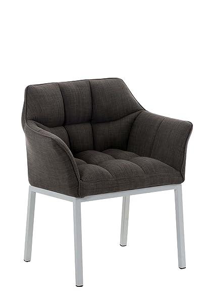 Sedia Octavia W in tessuto grigio