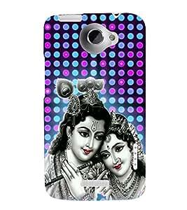 Radha Krishna 3D Hard Polycarbonate Designer Back Case Cover for HTC One X