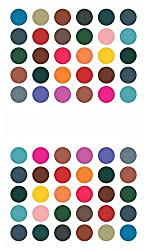 Sunaina Matching Plaza Multicolor Size-2 Round Bindis for Women [SMP611]