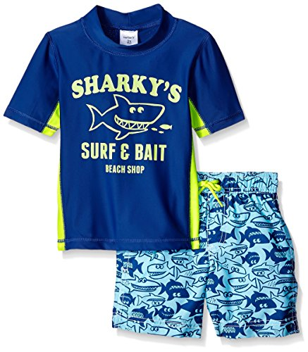 5b85fd4f52 Carter's Boys' 2 Pc Sharkys Rash Guard Set - Import It All