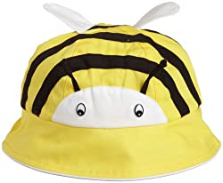 Kidorable Little Girls'  Bee Sunhat, Yellow, 6-6X