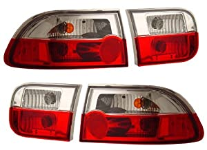 HONDA CIVIC 92-95 2/4 DR CRYSTAL TAIL LIGHT RED/CRYSTAL NEW
