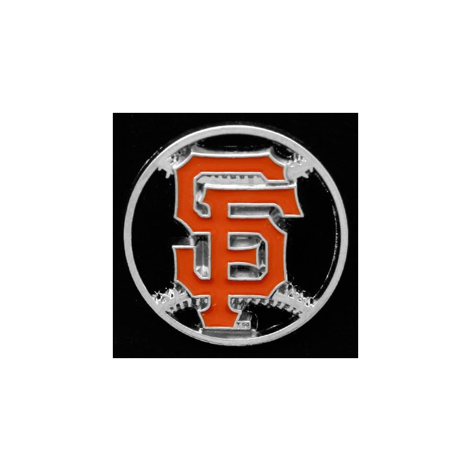 MLB San Francisco Giants Team Logo Cut Out Baseball Pin