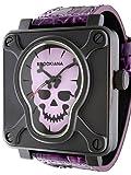 【BROOKIANA】ブルッキアーナ THE SKULL スカル 男性用腕時計 BA1661 全6色 (BA1661-PU)