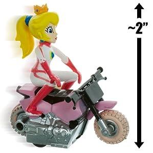 "Amazon.com: Princess Peach Bike ~2"" Mario Kart Pull Back Racer: Toys"