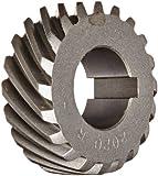 Boston Gear H2020R Plain Helical Gear, 45 Degree Helix, 14.5 Degree Pressure Angle, 0.500 Bore, 20 Pitch, 20 Teeth, Steel, RH