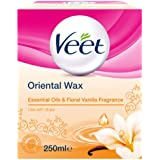 Veet Essential Oils and Floral Vanilla Warm Wax 250 ml Microwavable Jar