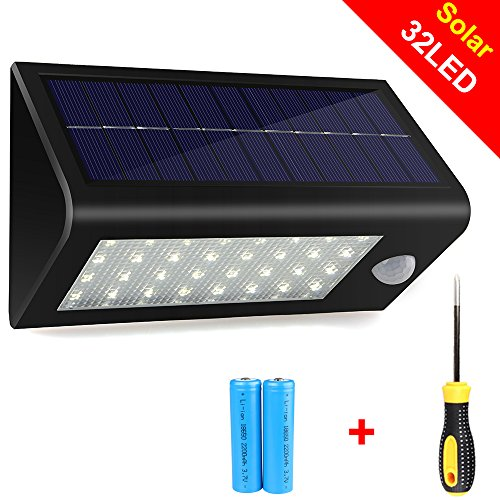 solar wall outdoor led light lamp motion sensor power garden