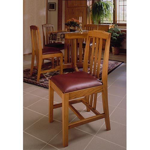 Arts and Crafts Dining Chairs Mission Style: Downloadable Woodworking Plan