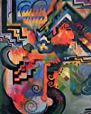 Artifact Puzzles - August Macke Farbige Komposition Wooden Jigsaw Puzzle