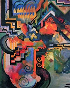 Artifact Puzzles - August Macke Double-Sided Farbige Wooden Jigsaw Puzzle