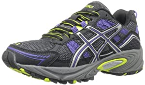ASICS Women's Gel-Venture 4 Running Shoe,Black/Iris/Lime,9 M US
