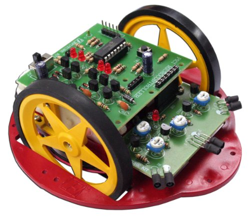 PIC ELECTRONIC OBSTACLE-AVOIDING Robot 3 Sensor 16F630 Assembled Kit (Obstacle Avoiding Robot compare prices)
