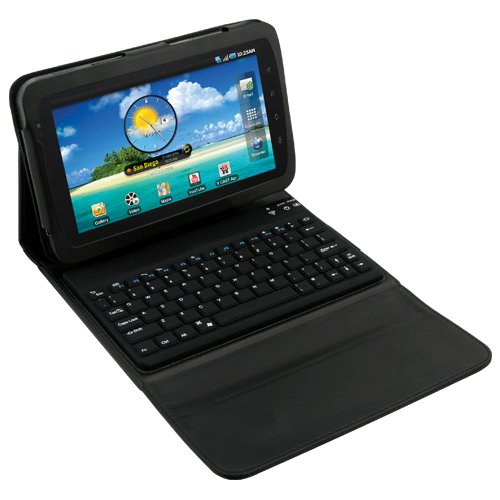 Portfolio Case w/ Built-in QWERTY Keyboard for Samsung Galaxy Tab P1000