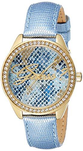 Guess Orologio al Quarzo, da donna, con display analogico blu e cinturino in pelle blu W0612L1