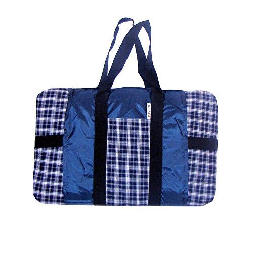 Tuffo Water-Resistant Outdoor Blanket, Navy Plaid