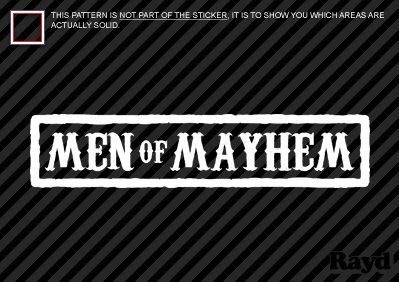 (2x) 6″ Men of Mayhem – Sticker Decal – Die Cut – SAMCRO