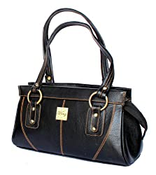 Stonkraft Womens Shoulder Bag (Black) (LthrShldrblkBag20)