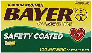 Bayer Regular Strength Aspirin Tablets, Regimen, 325 mg, 100 count