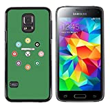 SoulCase Samsung Galaxy S5 Mini SM G800 NOT S5 REGULAR Cute Snooker Pool Balls Cartoon Slim Black Plastic Case Cover Shell Armor