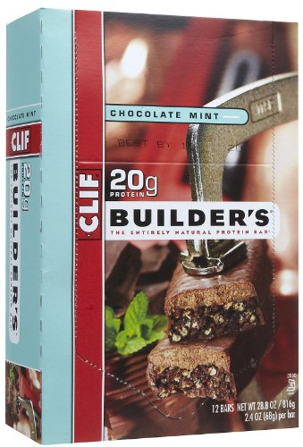 CLIF BUILDER'S - Protein Bar - Chocolate Mint - (2.4 oz, 12 Count) (Cliff Bars Builder Bars compare prices)