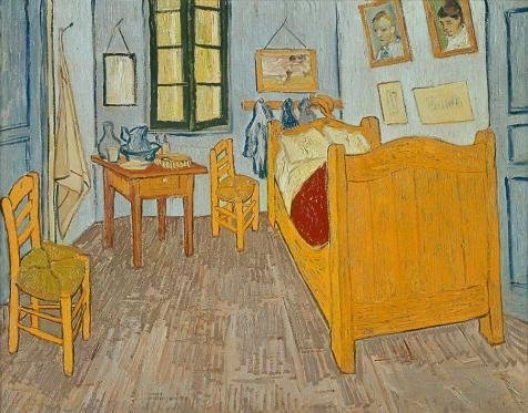 'The Bedroom-Vincent Van Gogh,1888' Oil Painting, 18x23 Inch / 46x58 Cm ,printed On Perfect Effect Canvas ,this Beautiful Art Decorative Prints On Canvas Is Perfectly Suitalbe For Bar Decor And Home Gallery Art And Gifts