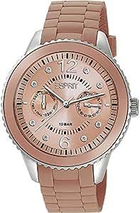 Esprit - ES105332012 - Montre Femme - Quartz Analogique - Cadran Beige - Bracelet Silicone Beige