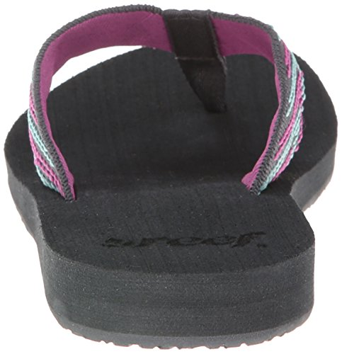 Reef Women's Sandy Love Flip Flop,Grey/Pink/Aqua,9 M US