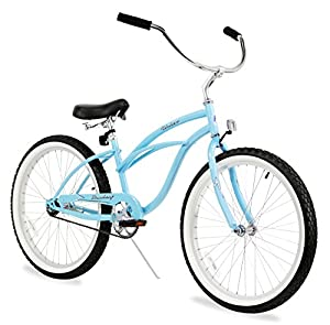 "Women's Urban Lady 24"" Beach Cruiser Bike Color: Baby Blue"